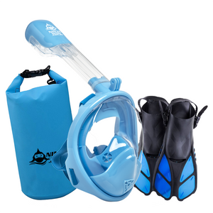 Black Friday Package: Longer Tube Mask + Fins + Bag for Kids (3-11 Years)