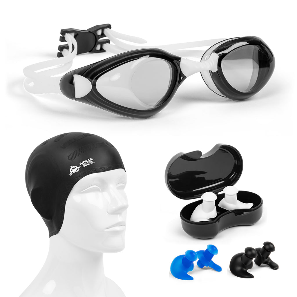 Adults Swimming Package: Goggles, EarPlugs, Cap