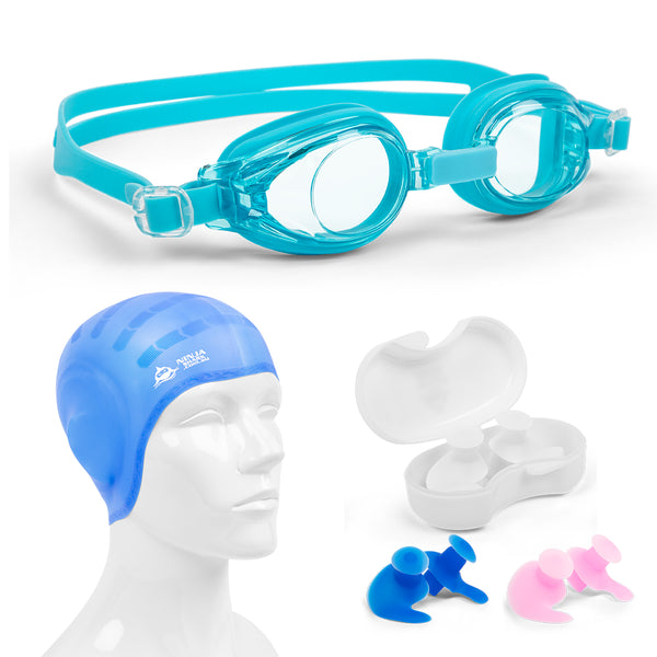 Kids Swimming Package: Goggles, EarPlugs, Cap