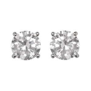 Classic Round Diamond 4 claw Earrings