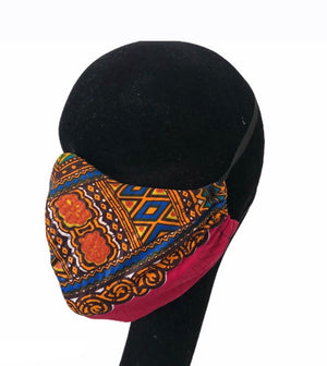 Pink Dashiki Print Cotton Face Mask Pack of 2