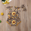 Sunflower Adorned Leopard Print Bodysuit