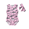 Baby Girls Shark Bodysuit