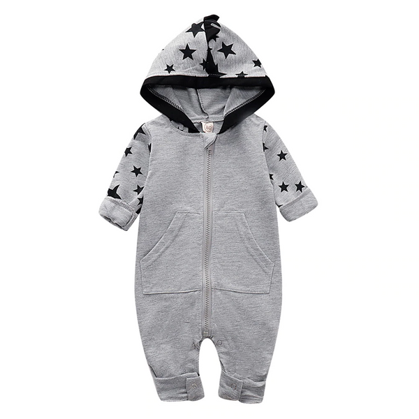 Black Star Hooded Jumpsuit