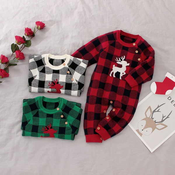 Plaid Reindeer Jumpsuit