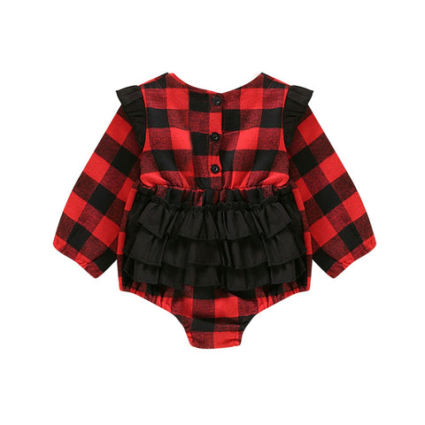 Red Plaid Bodysuit
