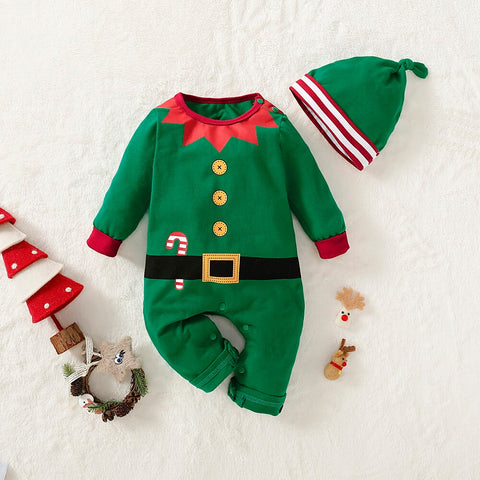 Santa Claus Romper in Green