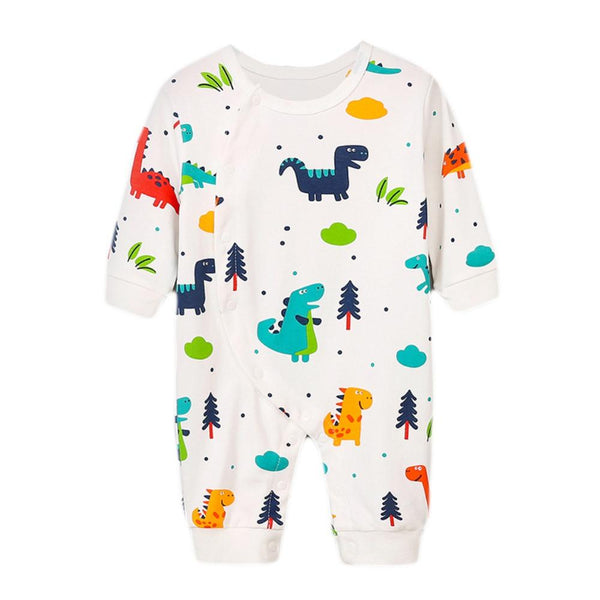 Cartoon Dino Print Romper