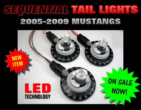 2005-2009 Mustang GT / V6 / Shelby LED Sequential Tail Light Kit
