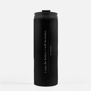 White Words Thermal Tumbler