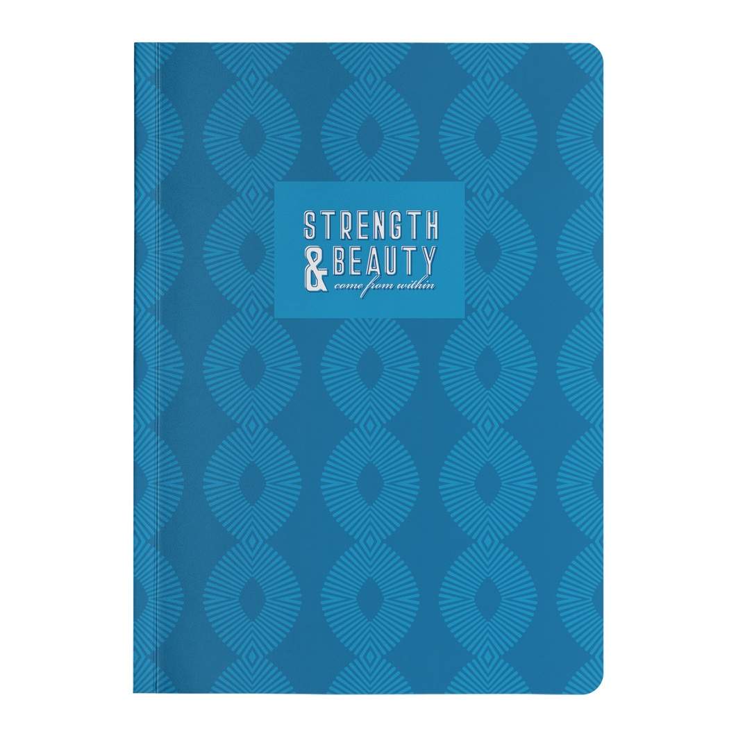 Strength & Beauty Bluesy Paperback Journal