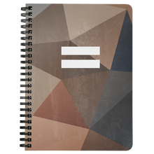 Load image into Gallery viewer, Polygon Equality Spiral Notebook (Autumn)
