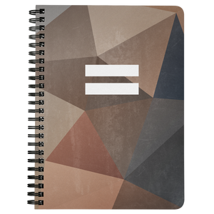 Polygon Equality Spiral Notebook (Autumn)