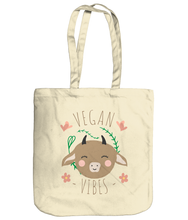 Load image into Gallery viewer, Vegan Vibes - EarthAware Organic Spring Tote Bag