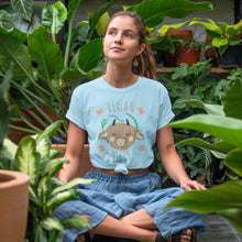 Load image into Gallery viewer, Vegan Vibes - Eco Vegan T-Shirt (Women's)