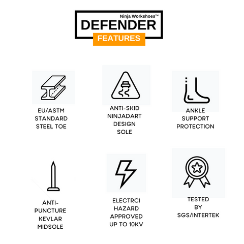 Defender Safety Shoes Features