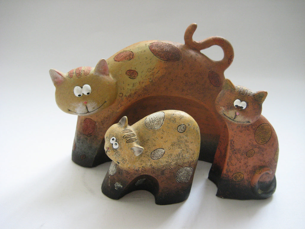 Ceramic Cats Figurines Statues One Offs