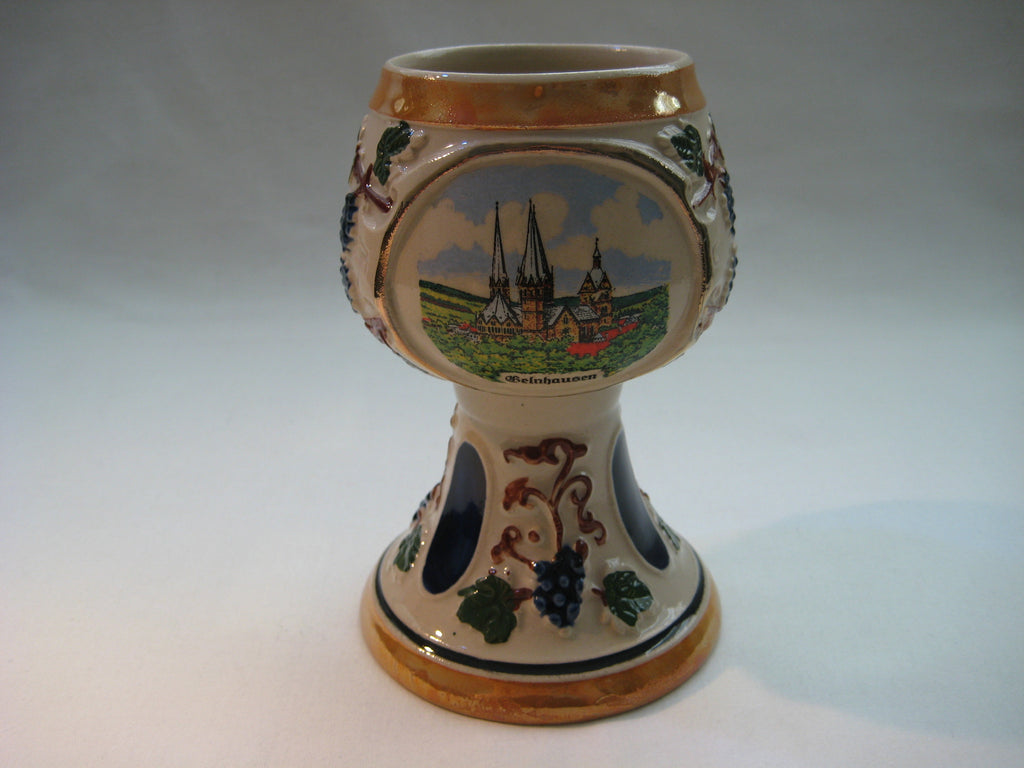 Vintage German Staffel Stein Stoneware Pottery Wine