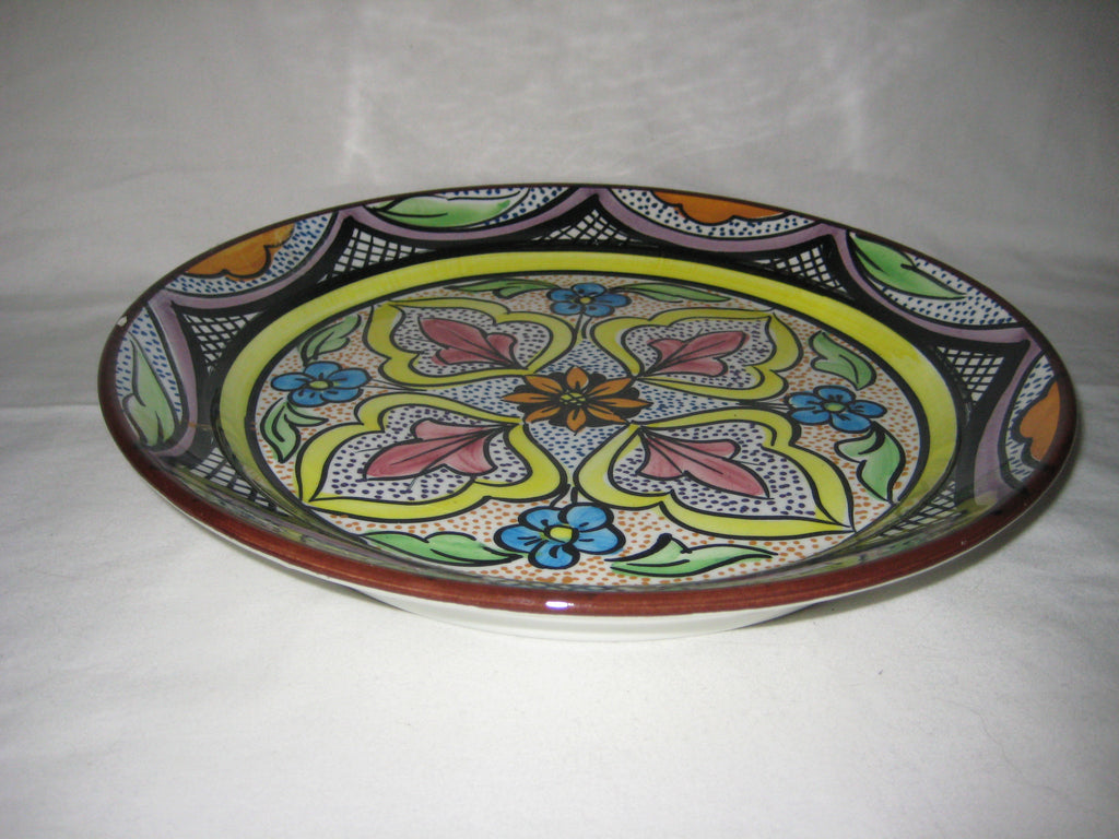 Hand painted ceramic plate made in spain one offs for Can ceramic be painted