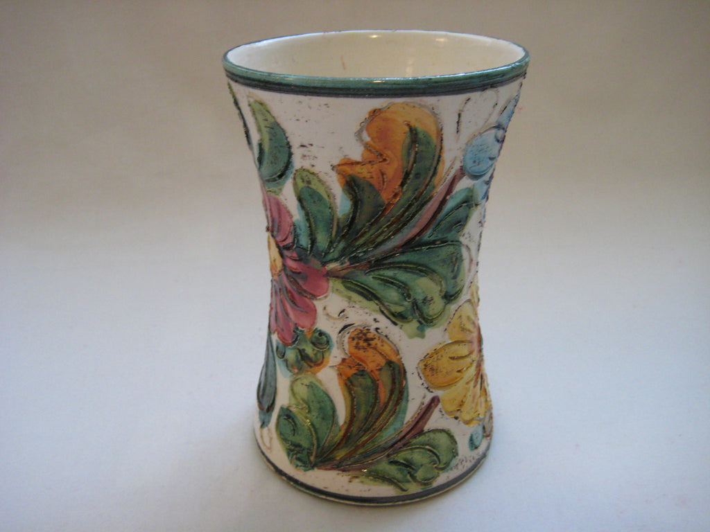 Vintage Italian Hand Painted Pottery Vase One Offs
