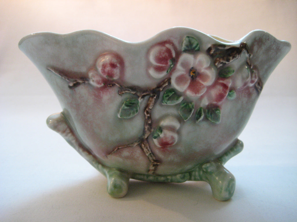 Vintage 1950 S Hand Painted Sylvac Apple Blossom Posy Bowl