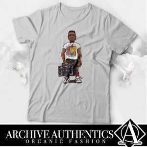 "Archive Authentics Organic Fashion presents their ""Radio Raheem"" collection of their quality custom tees designed by Archive Authentics. This custom tee collection is available in different sizes and colors at https://archive-authentics.myshopify.com"