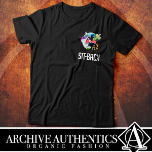 "Archive Authentics Organic Fashion presents their ""Sit Back"" collection of their quality custom tees designed by Archive Authentics. This custom tee collection is available in different sizes and colors at https://archive-authentics.myshopify.com"