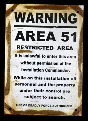 Metal Sign~Area 51
