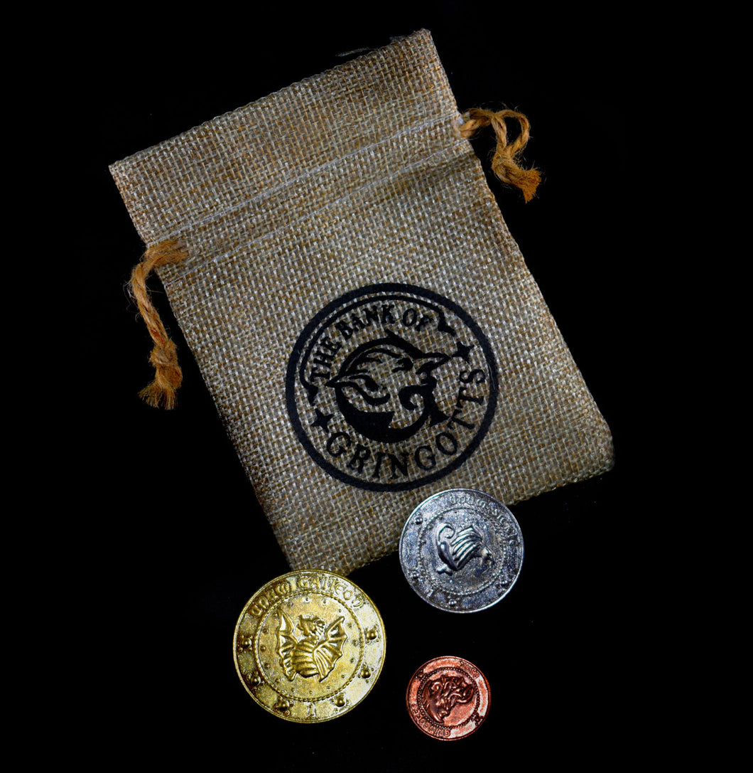Harry Potter~Gringotts Bank Coins and Pouch