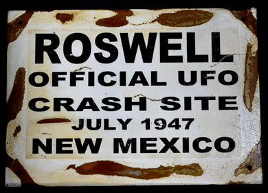 Metal Sign~ Roswell Crash Site