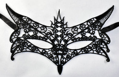 Black Lace Masquerade Mask ~Fox
