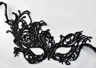 Black Lace Masquerade Mask~Filagree