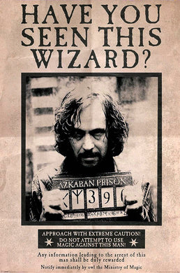 Harry Potter~Sirius Black Have You Seen This Wizard Poster