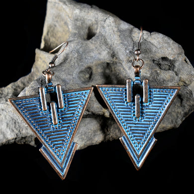 Earrings~Southwestern Patina 1