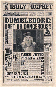 Harry Potter~ Daily Prophet Dumbledore Poster