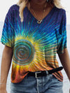 Color Gradient Vortex Print T-shirt