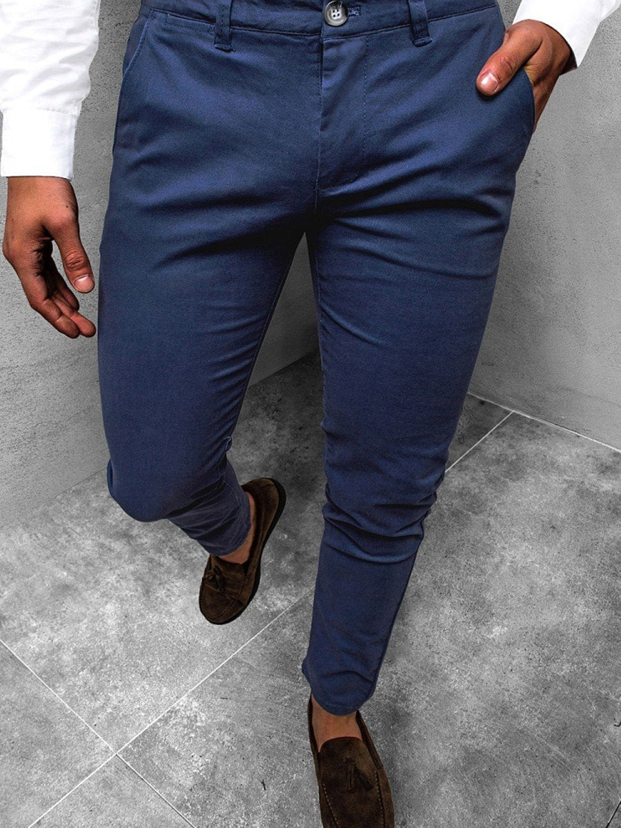Men's Solid Casual Pants