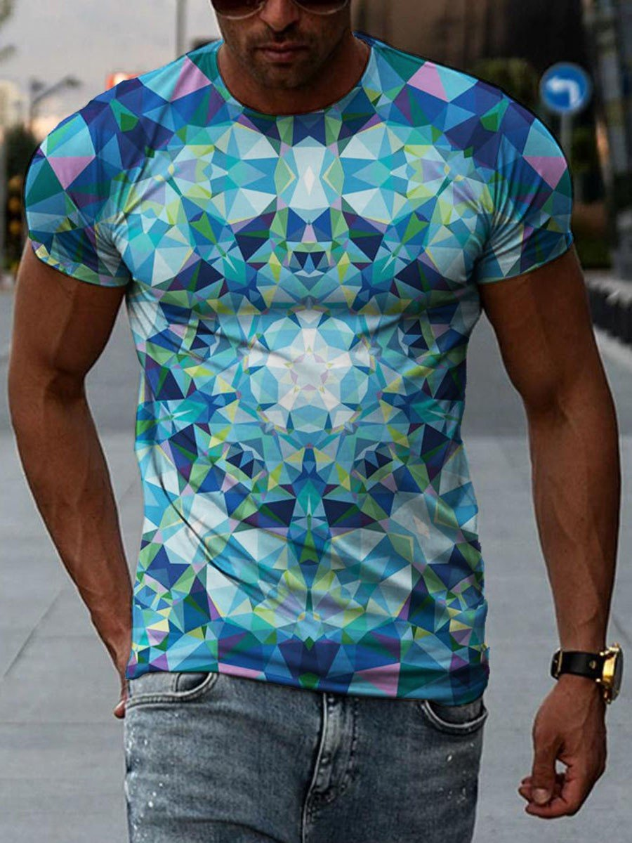 Men's Kaleidoscope Print T-shirt