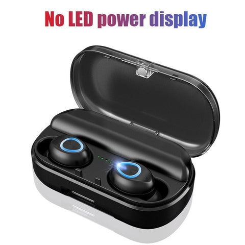 Bluetooth Wireless Ear Buds With Microphone And LED Display