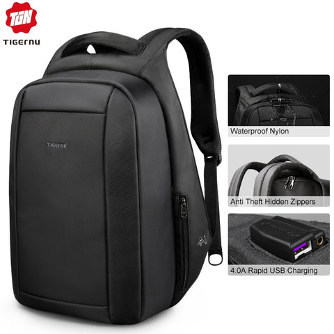 Men's Water Repellent Multi USB Charging Back Pack