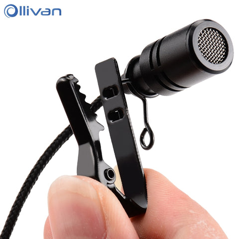 Omnidirectional Mini Tie Clip Audio Mic For Laptop/Phone