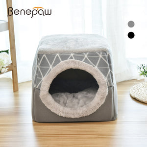 Benepaw Warm Soft Cat House Comfortable Removable