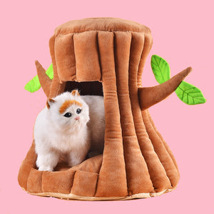 Cat bed Cute Tree Nest Deep Sleep Cat house Winter