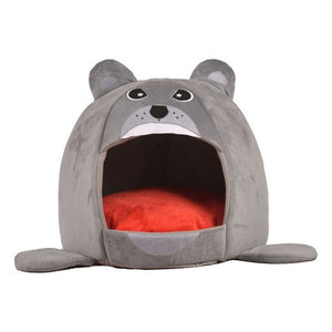 Foldable Pet Cat House Dog Bed Shark Shape