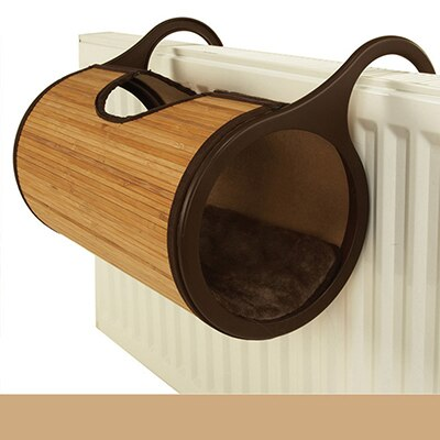 Natural Bamboo Radiator Cat Bed Cat