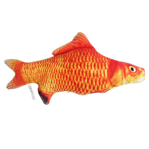 Plush Creative 3D Carp Fish Shape Cat