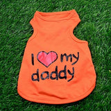 "Pet Clothes ""I Love Mommy"""