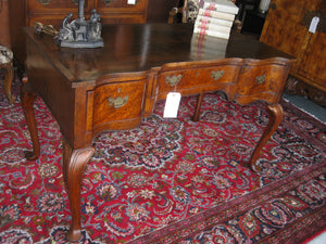 Antique clawfoot desk for a home office.