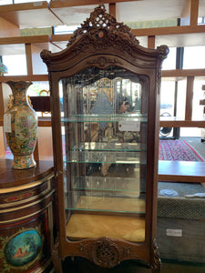 Carved French Style Curio Cabinet
