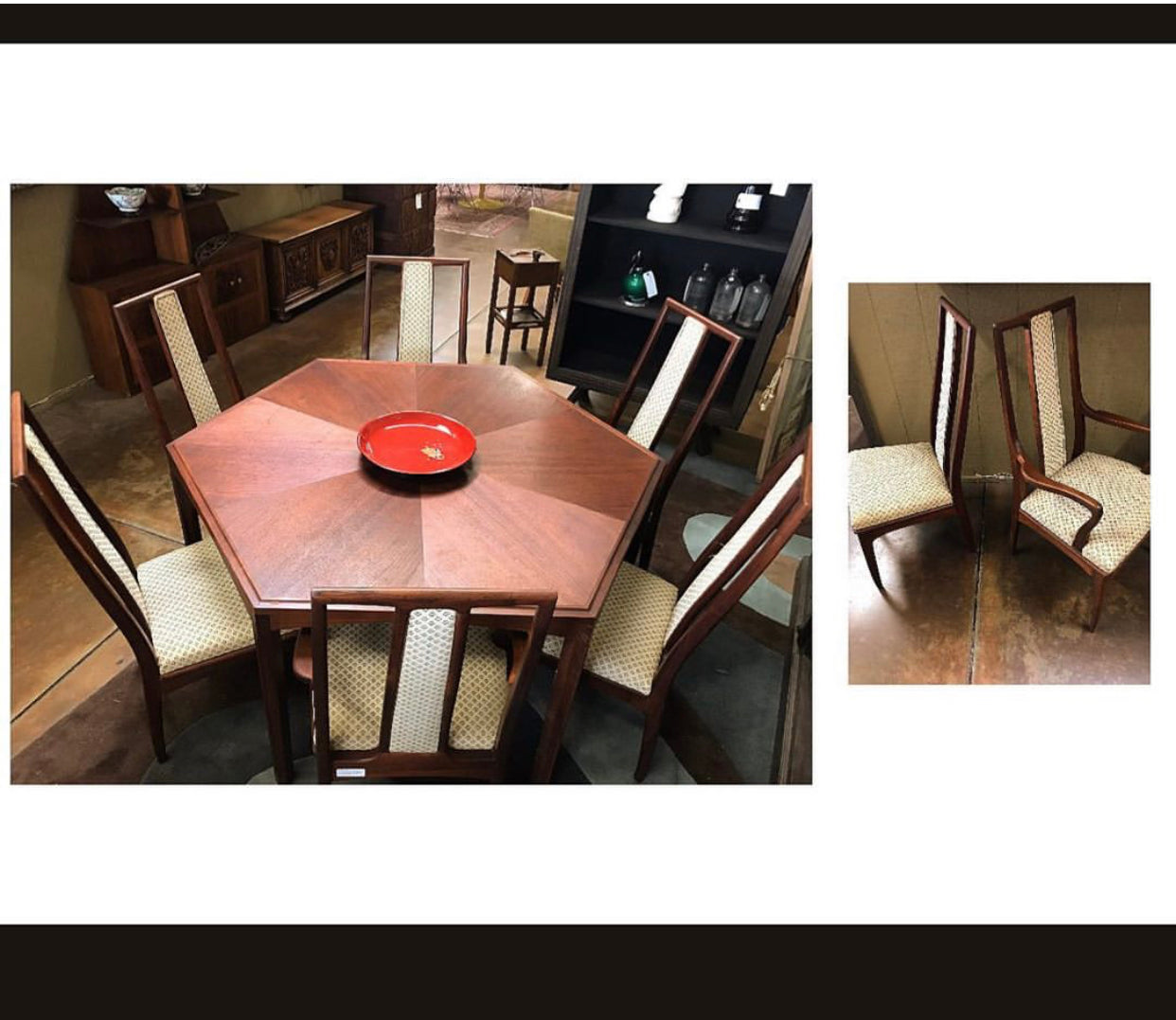 7pc. Mid-Century Modern Dining Set by John Stuart